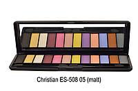 Набор теней для век Christian ES-508 № 05 (12 цветов-матовые)