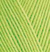 Пряжа Alize BABY BEST зеленый неон №612 бамбук для ручного вязания
