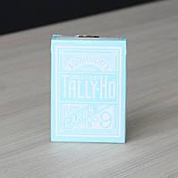 Карты игральные | Tally Ho Reverse Circle back (Mint Blue) Limited Ed. by Aloy Studios / USPCC