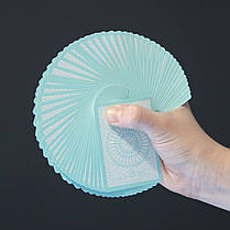 Карты игральные | Tally Ho Reverse Circle back (Mint Blue) Limited Ed. by Aloy Studios / USPCC, фото 2