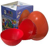 Большое пластиковое яйцо-сюрприз 35Х27СМ ПУСТОЕ В КОРОБКЕ