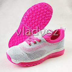 Детские кроссовки для девочки белые с розовым 33р. Clibee