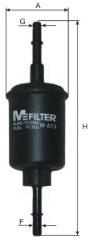 Фільтр очищення палива Mfilter bf673 для автомобілів Ford, Mazda