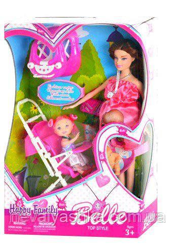 Кукла с коляской беременная, с дочкой в коляске, JX 600-96 ...