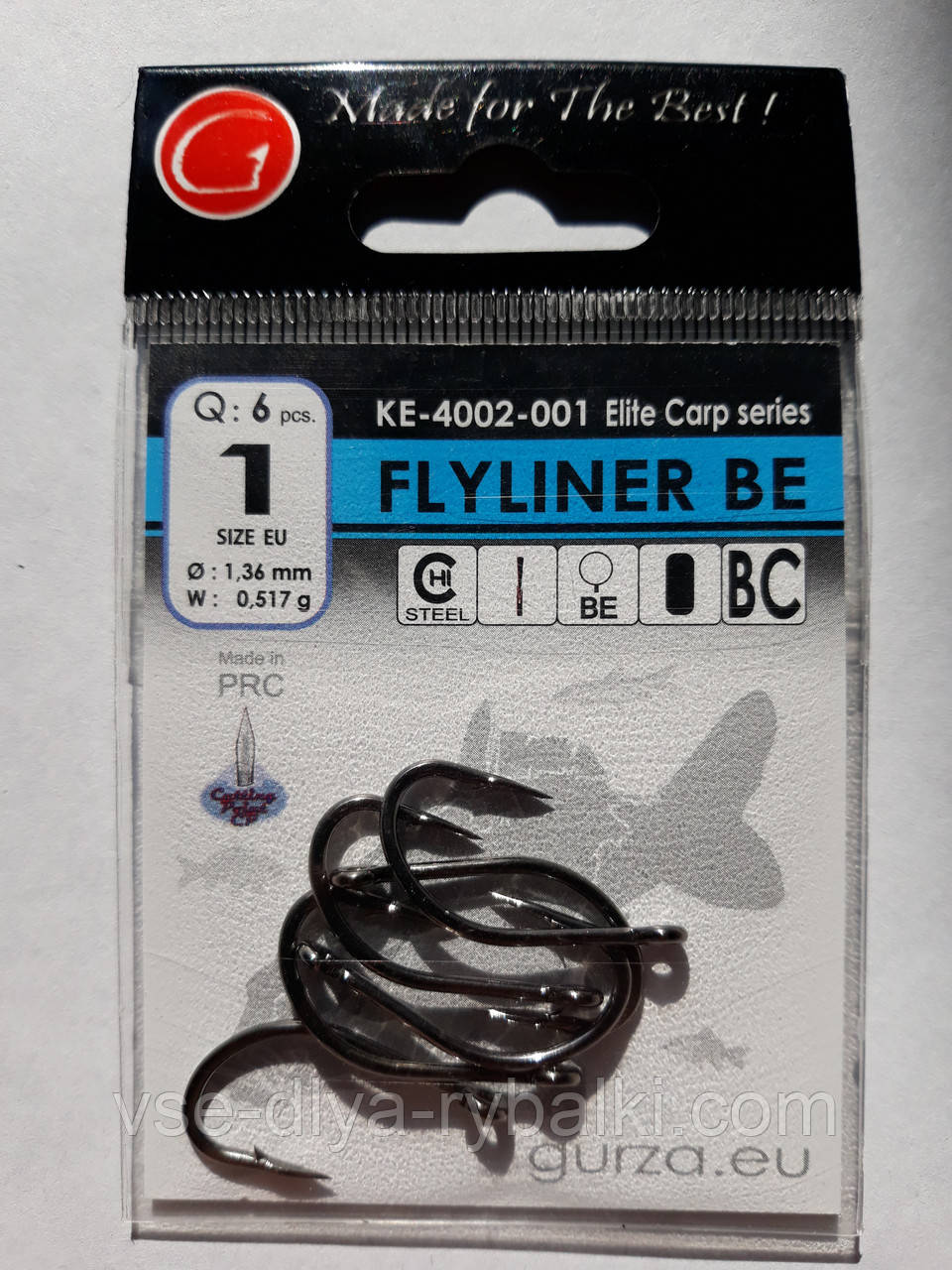 Крючки Gurza flyliner be № 1