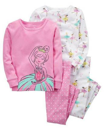 Комплект бавовняних піжам Балерина з 4-х частин, фото 2