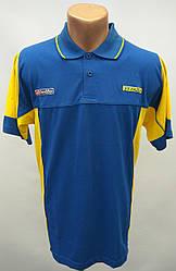 Тенниска мужская Украина Lotto сине-желтая