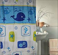"""Штора для ванной и душа """"Текстиль""""180х180 см (Кит)"""