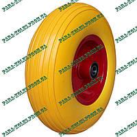 Колесо для тачки 4.00-6 пенополиуретановое (проколобезопасное), под ось 20 мм