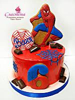 Детский Торт  Спайдермен  Человек Паук (кремовый без мастики)