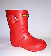 Детские дождевые сапоги из пены (ЭВА) для мальчика или девочки ( р. 28-35)