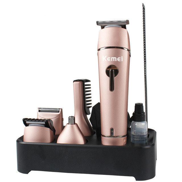 Машинка для стрижки волосся kemei km-1015, 10 в 1
