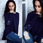 Женская асимметричная туника украшенная пайетками, фото 4