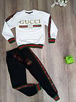 Детский костюм Gucci черно-белый