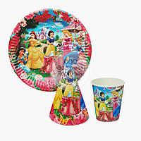 Набор посуды для праздника на 10 персон - Принцессы Дисней