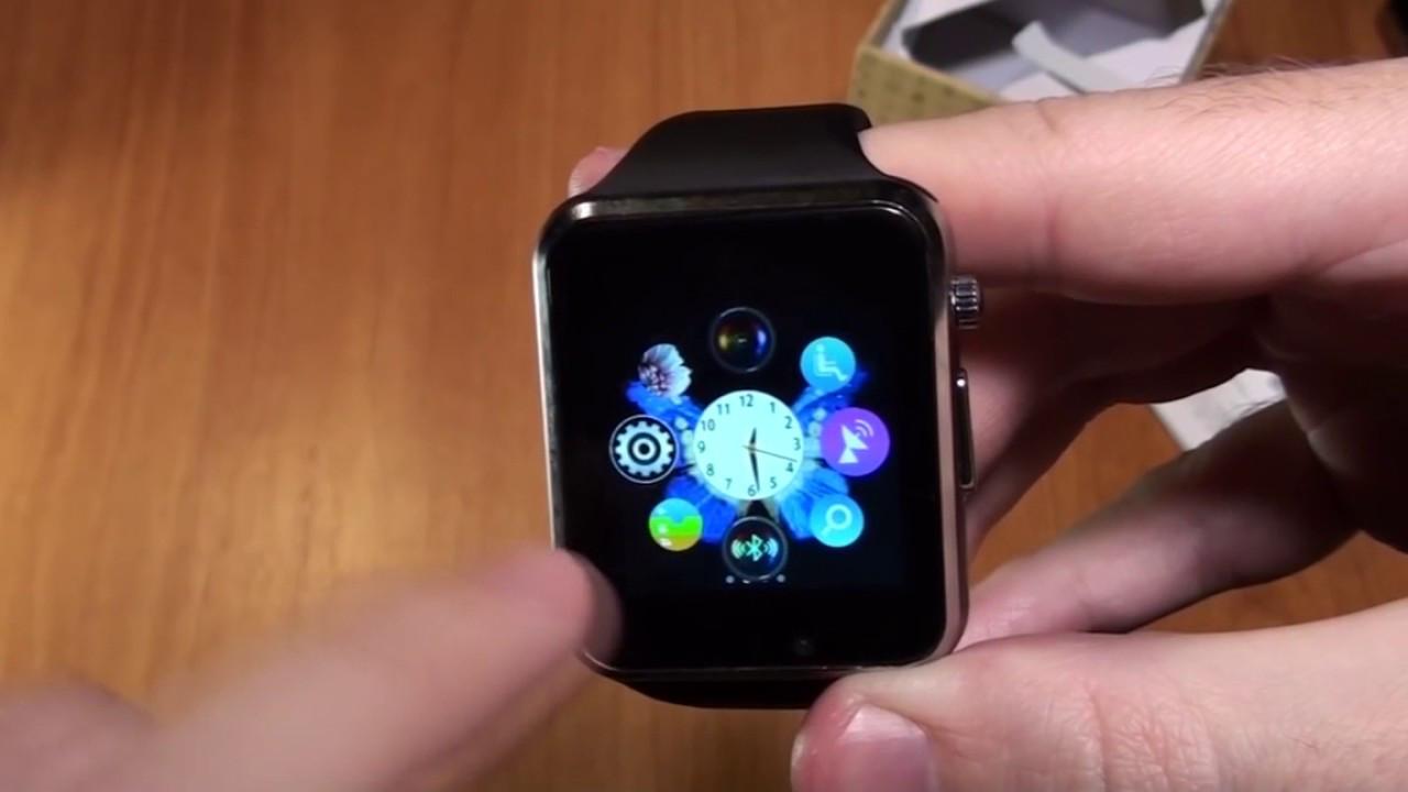 Умные часы Smart watch A-1 Часы-телефон +плюс USB LED фонарик в подарок