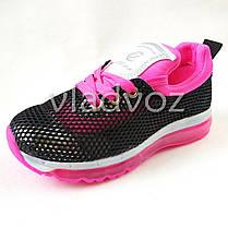 Кроссовки для девочки черные с розовым 32р. Clibee, фото 2
