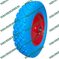 Колесо для тачки 3.50-8 пенополиуретановое (проколобезопасное), под ось 20 мм