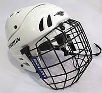 Шлем хоккейный Mission M15 с решеткой BAUER, на XS-S, Оч хор сост!