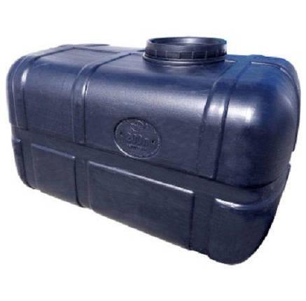 Бочка непищевая 250 литров емкость, бак горизонтальная, фото 2