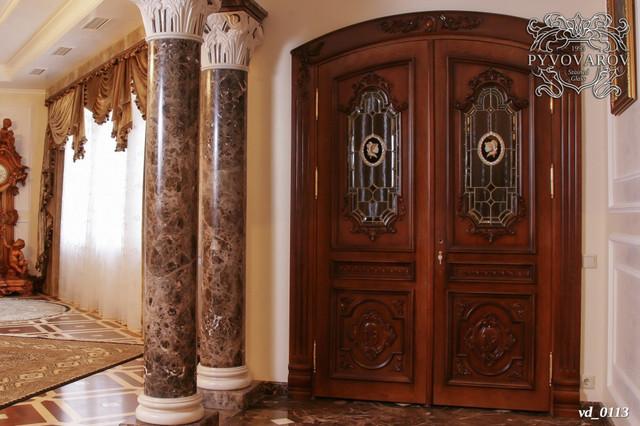 Витражные двери в кабинет