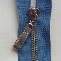Молния разъемная 75 см голубая металл никель