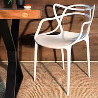 Стул Masters Chair PP-601 Flower, белый полипропилен, дизайнPhilippe Starck