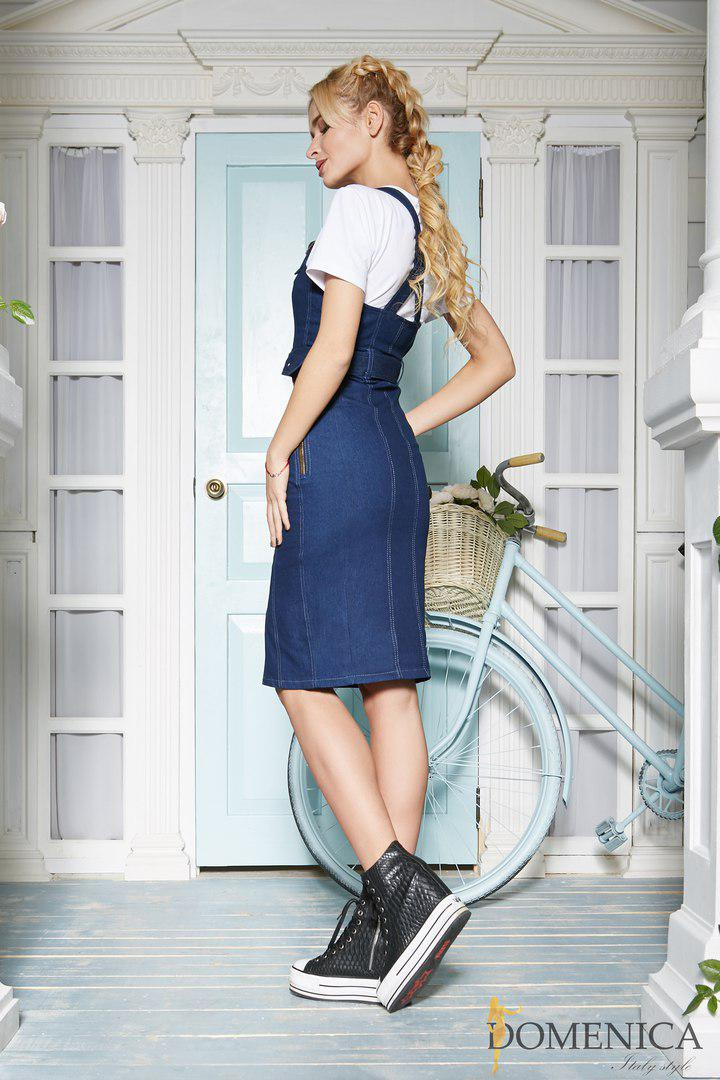 1d9cb2474ceabfd ... Джинсовое платье-рубашка на пуговицах с декором tez31031169, фото 3