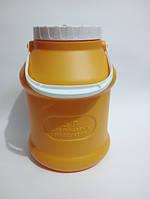 Бидон пластиковый пищевой 5 л с ручкой и крышкой Мартика KN-023-2