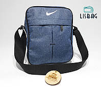 f67f11c8af2d Мужская сумка через плече спортивного типа Nike реплика люкс качества, синяя