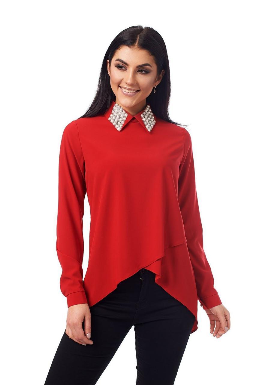 0acc3ea169a Стильная блузка с красивым воротником