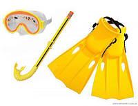 "Intex Набор для плавания 55954 желтый(6) размер ""S"" 35-37, ласты, маска, трубка, в кульке"