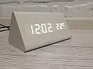 Часы настольные деревянные электронные VST-861