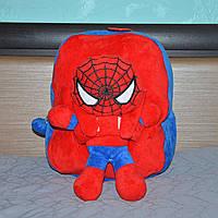Яркий плюшевый рюкзак для детей, дошкольный, со съемной игрушкой Человек Паук, для мальчиков