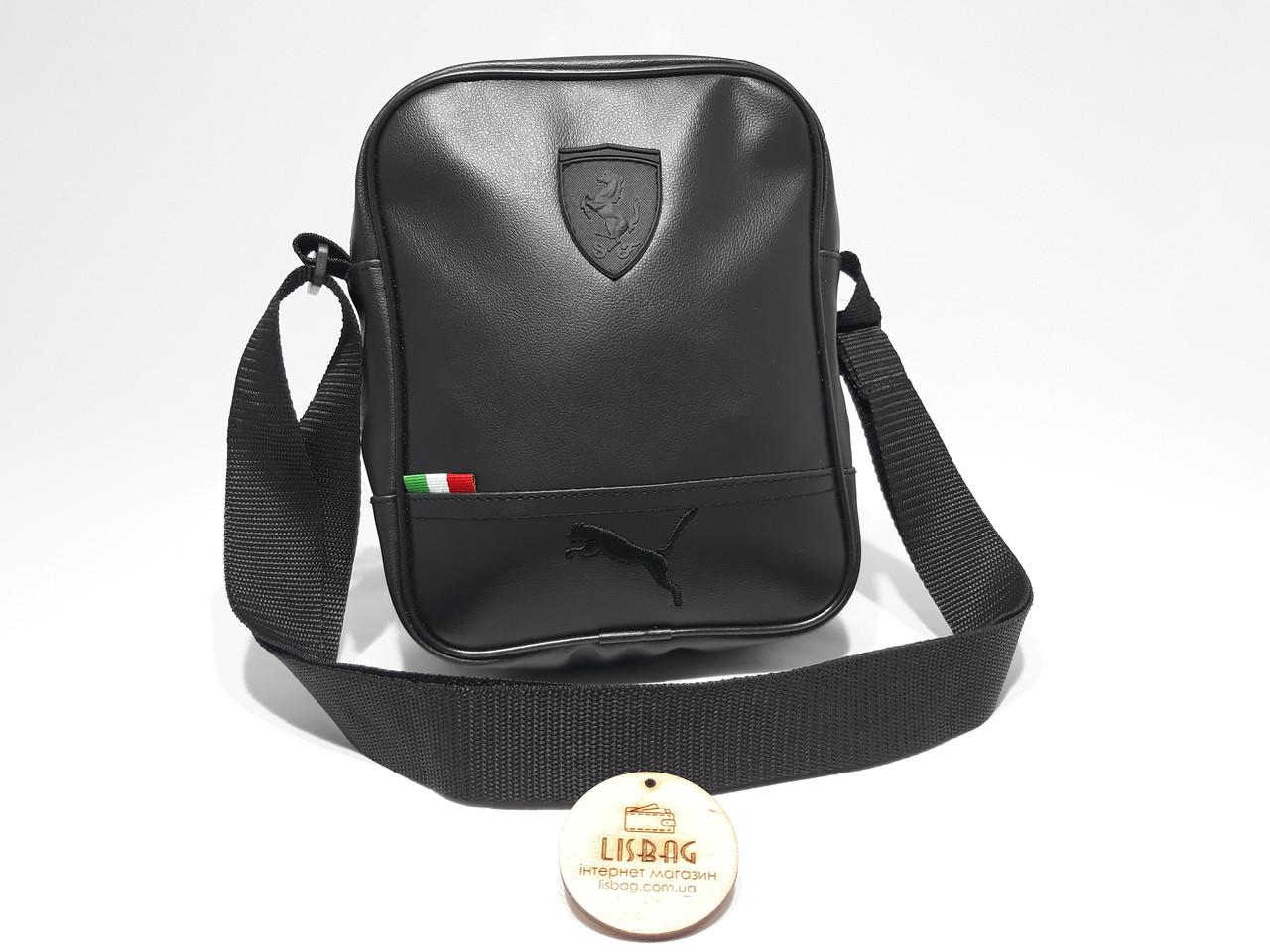 4f5b09d15db7 ... Спортивная сумка через плечо Puma реплика люкс качества 2х компонентная  кожа PU, ...