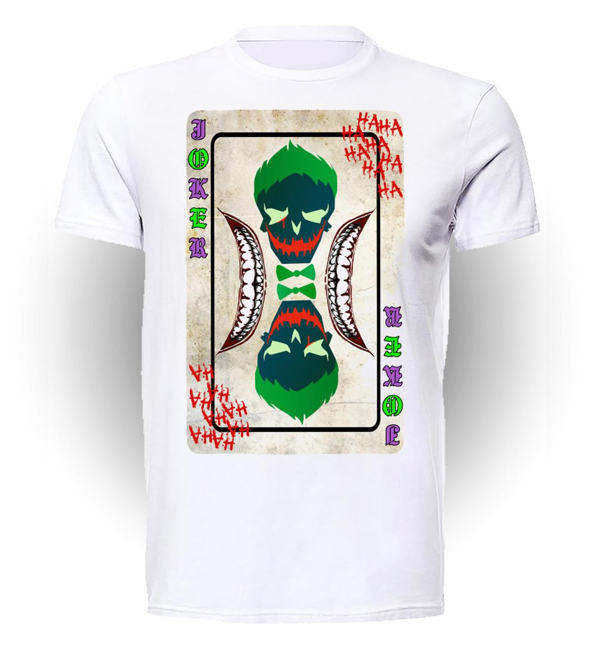 Футболка GeekLand Джокер Joker Карта Джокер отряд самоубийц JO.01.026