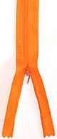 Молния потайная Оранжевый 50см пластиковая неразъемная спираль