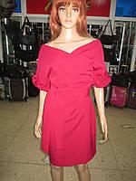Шикарное женское платье с открытыми плечами под пояс р 38