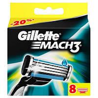 Gillette Mach3 8 шт. в упаковке сменные кассеты для бритья, оргинал