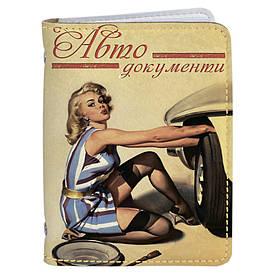 Обложка на автомобильные права Fisher Gifts 01 Пин-ап. Блондинка (эко-кожа)