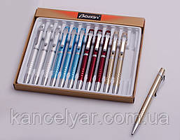 Ручка шариковая поворотная, металлическая, в ассортименте