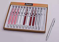 Ручка шариковая поворотная, металлическая, со стилусом, в ассортименте