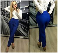 Яркие женские брюки цвета электрик