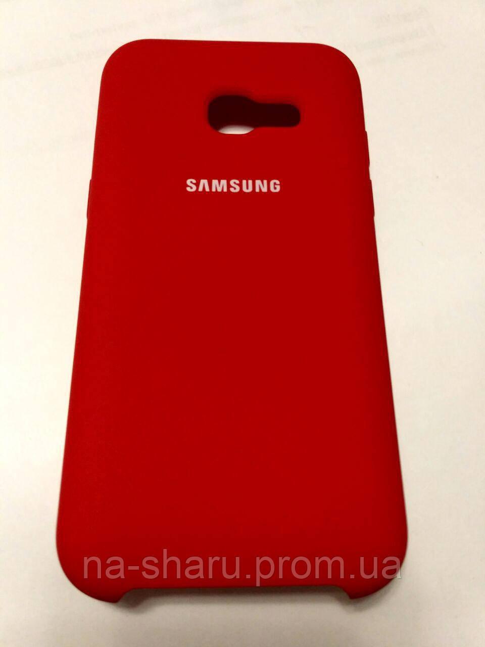 buy popular 4d896 d7e87 Original silicone case for Samsung A5 2017 Red (красный)
