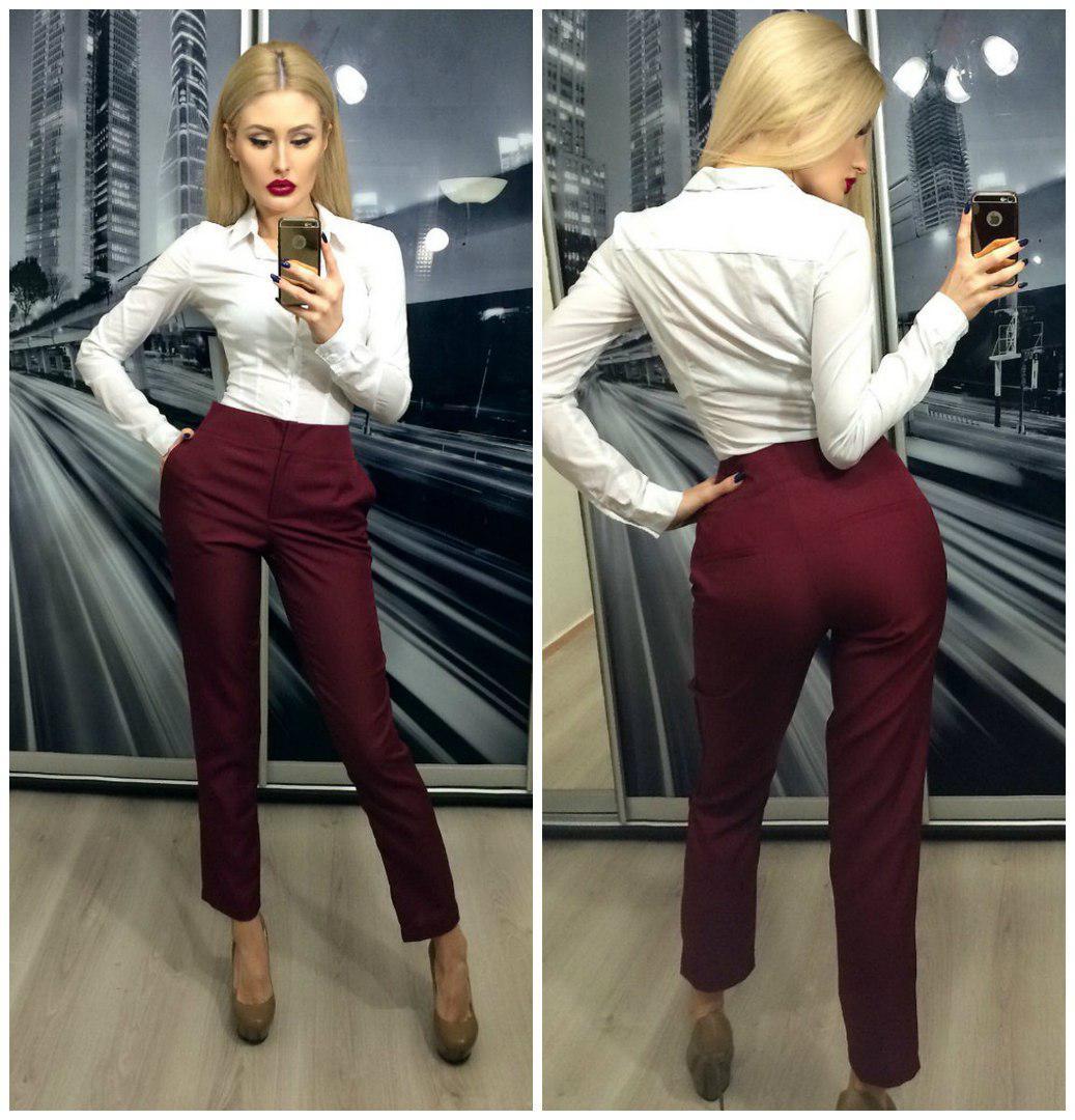 28dd41c3ddb1 Красивый женские брюки модного цвета марсала : продажа, цена в ...