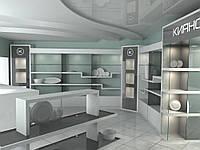 Торговые витрины, прилавки, стеллажи, столы для посуды, фото 1