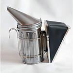 Дымарь пасечный со съемным мехом с ограждением, окрашенный порошковой краской, фото 2