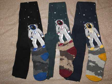 Р. 134-140 ( 9 - 11 года )  детские колготки Bross Космонавт