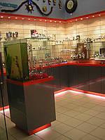 Торговые витрины, торговая мебель изготовить
