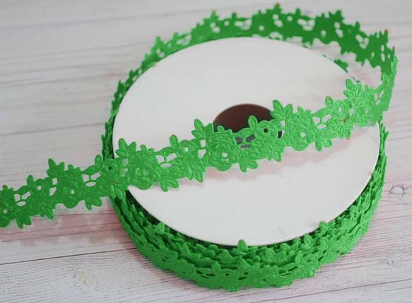 """Кружево- лента """"розочка"""" зеленая, фото 2"""